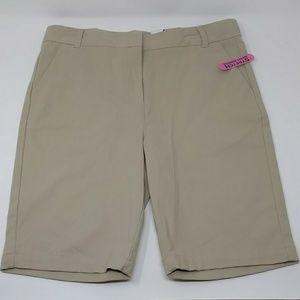 Izod Schoolwear Girl's Easy-care Flat Front Short